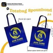 Tote Bag Custom Logo - Bahan Spounbond 100gram Ukuran 30x35 (30526936) di Kota Jakarta Timur