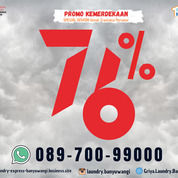 Jasa Laundy Banyuwangi Promo 76% Bulan Agustus (30531543) di Kab. Banyuwangi