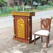 Mimbar Podium Masjid Minimalis Set Kursi (30544146) di Kab. Banyuasin
