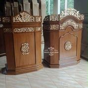 Mimbar Khotbah Masjid Kayu Jati C-10 (30557067) di Kab. Cianjur