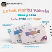 Cetak Kartu PVC Design Custom Vaksin Resmi 2 Sisi Print High Quality (30588812) di Kota Jakarta Timur