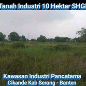 Tanah 10 Hektar Di Kawasan Industri Pancatama Cikande Serang (30668353) di Kab. Serang