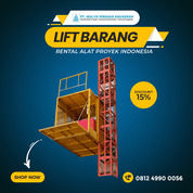 Rental / Sewa Lift Barang, Lift Material Kap. 1-4 Ton Penajam Paser Utara (30764999) di Kab. Penajam Paser Utara