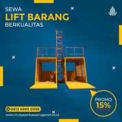 Rental / Sewa Lift Barang, Lift Proyek 1-4 Ton Muaro Jambi (30793607) di Kab. Muaro Jambi