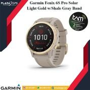 Garmin Fenix 6S Pro Solar Light Gold W/ Shale Gray Band (30818502) di Kota Tangerang Selatan
