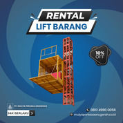Rental / Sewa Lift Barang, Lift Material 1-4 Ton Solok (30832148) di Kota Solok