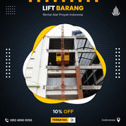 Rental / Sewa Lift Barang, Lift Material 1-4 Ton Puncak (30833147) di Kab. Puncak