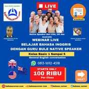 Webinar Percakapan Bahasa Inggris Online Dengan Guru Bule Native (30857147) di Kota Jakarta Selatan