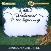 Welcome Sign Acrilyc Wedding Mahar Akrilik 40x60cm (30891478) di Kab. Sidoarjo
