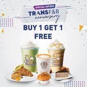 The Coffee Bean Special Offers TRANS F&B Anniversary Buy 1 Get 1 Free (30908750) di Kota Jakarta Selatan