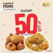 Ela! Greek Doughnuts DISCOUNT 50 % OFF Min Purch 40K (30918500) di Kota Jakarta Selatan