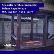 PASANG DITEMPAT, Wa. 081-555-436-087, Pengrajin Gazebo Kayu Glugu Minimalis Badung (30968396) di Kab. Jepara