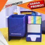 Kotak Pen Memo Post It + Sablon 1warna 2sisi Custom Logo (31058010) di Kota Tangerang