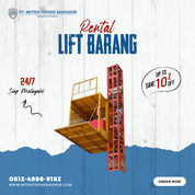 Rental / Sewa Lift Barang, Lift Material, Profesional Hoist Area Pacitan (31090519) di Kab. Pacitan