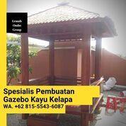 Jasa Pembuatan Gubuk Kayu Glugu Minimalis Purbalingga (31142906) di Kab. Jepara