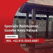 TERIMA JADI, Wa. 081-555-436-087, Tukang Gazebo Kayu Kelapa 2x2 Bandung Barat (31142930) di Kab. Jepara