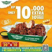 Wingstop Ekstra 10 Boneless Wings hanya Rp 10.000,- (31175232) di Kota Jakarta Selatan