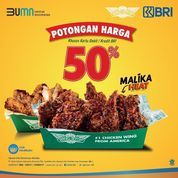 Wingstop Happy weekend! Diskon 50% berlaku sampai 31 Oktober 2021 (31175709) di Kota Jakarta Selatan