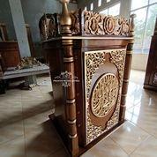 Mimbar Podium Masjid Ukir Kayu Jati (31204056) di Kab. Bojonegoro