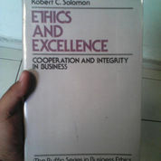 Ethics and Excellence/Robert Solomon (3164077) di Kota Bandung
