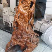 Patung Akar Jati Bentuk Kuda & Naga