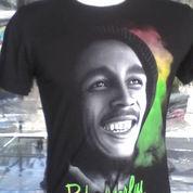 Kaos Spandex Hitam Musisi, Bob Marley (3296081) di Kota Bekasi