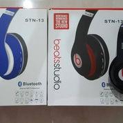 Headset Bluetooth Beats Stereo Port Micro SD dan Jack standar