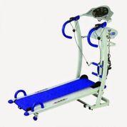 Treadmill Manual 6 fungsi Biru