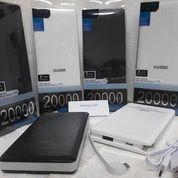 Power bank viverr 20.000mah 1 pcs -kapasitas 20.000 mah (polimer batrei super) -warna random -output Micro USB 5v/1a -bisa untuk Iphone, an