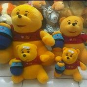 Boneka mainan anak krakter bruang madu tkoh kartun Winnie The Pooh SNI