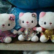 Boneka mainan anak kucing Cute kitty super Girl kartun Hello Kitty SNI