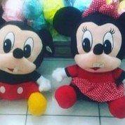 Boneka mainan anak tokoh kartun Disney Si Mickey Mouse & Minnie Mouse