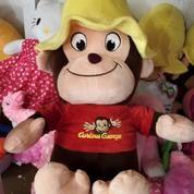 Boneka Monkey Curious George Kualitas Bagus Sni