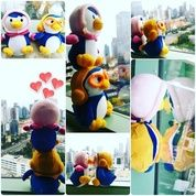 Boneka mainan anak tokoh kartun Si Petty ceweknya Pororo The Little Penguin grade super ORI SNI NEW murah