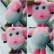 Boneka mainan anak karakter helikopter & tokoh film kartun SUPER WINGS pink & hijau SNI ORI NEW murmer