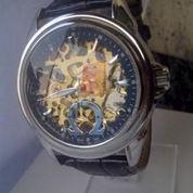 Jam tangan Otomatis transparan (black) leather (493381) di Jakarta