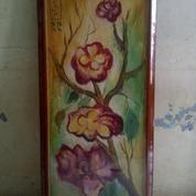 Lukisan Bunga Anggrek Asli Peninggalan Orang Tua