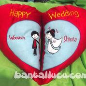 Bantal Kado Pernikahan Cinta (509764) di Pandaan