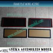 Frame/Cover Plat Mobil Aclyric Datsun Go+ Ukuran 46,5 cm