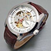 Verified seller Jam Tangan Tissot 1853-1 white brown leather