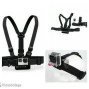 Chest Harness Belt Strap + Head Belt Set for GoPro & Xiaomi Yi (5355601) di Kota Jakarta Barat