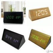Jam Waker Kayu 839 / LED Digital Wood Clock - JK-839