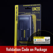 NITECORE Battery Charger Dual Slot With High Definition LCD - UM20