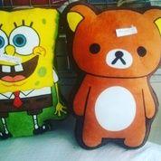 Bantal karakter spons kuning & hewan coklat tokoh serial film kartun Sponge Bob & Rilakuma full body empuk SNI NEW murmer (5396247) di Kota Jakarta Selatan
