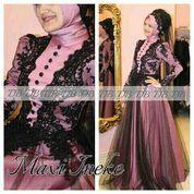 Maxy Inneke combi brukat renda cantik mewah + pashmina fit to L (5707709) di Kota Jakarta Barat