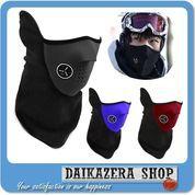 Motorcycle Ski Half Face Mask / Masker Motor - Black (5711945) di Kota Bogor