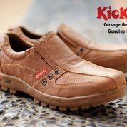 sepatu pria semi boot santai formal kickers low boots slip on slop (5742093) di Kab. Bandung