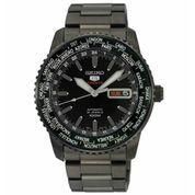 Seiko 5 SRP129K1 Sport World Time Full Black (5882805) di Kota Jakarta Barat