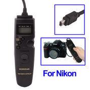 LCD Display Timer Remote Cord for Nikon D90/D5000/D7000/ D3000/ D3100