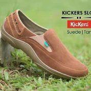 Sepatu casual slop simple kickers suede tan (6015459) di Kab. Bandung
